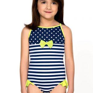 Detská bielizeň  Dievčenské jednodielne plavky Aletta farba modro-biela fc87f453e3f