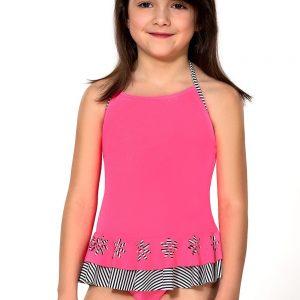 Detská bielizeň  Dievčenské plavky Delanna farba čierno-biela ... 37497a382b5