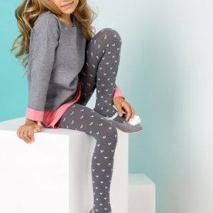 Detská bielizeň  Dievčenské pančuchové nohavice Pola farba melange d408cb40abc