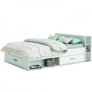 Biela posteľ do detskej študentskej izby 140 200 cm Roket
