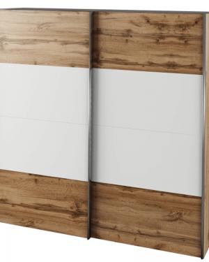 Šatníkové skrine do spálne - Biele, dub, iné